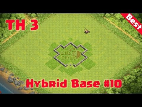Clash Of Clans Town Hall 3 Coc Th3 Hybrid Base Layout Defense Strategy