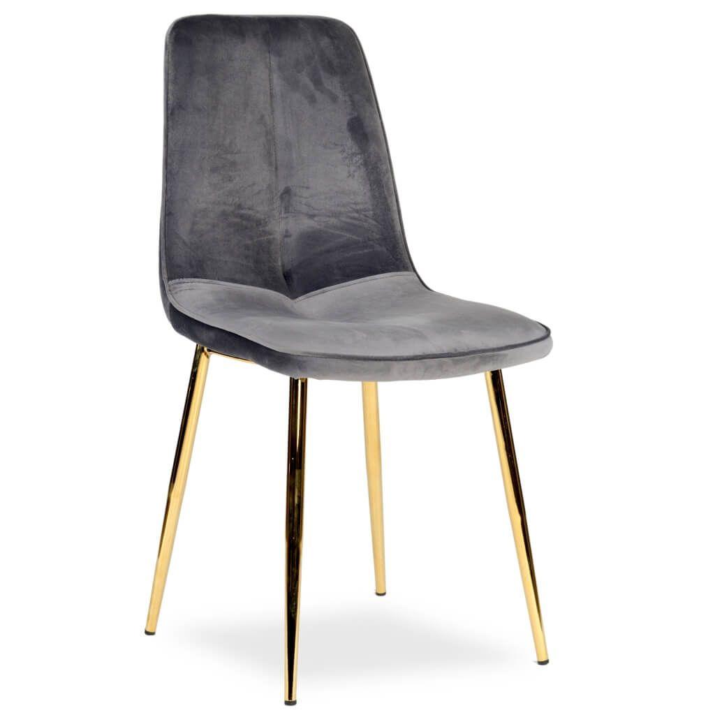 Cechy Krzesla Elena Prosty Klasyczny Ksztalt Wyprofilowane Oparcie Wygodne W Uzytkowaniu Pokryte Aksamitem Kolor Tapicerki Sz Chair Furniture Dining Chairs