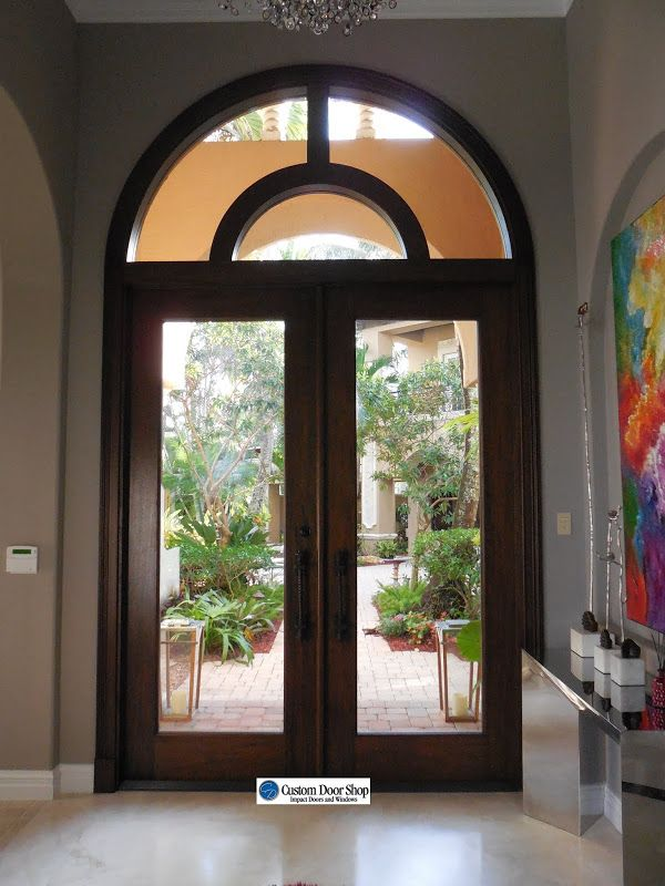 Gorgeous Front Doors Made Of Mahogany Wood And Impact