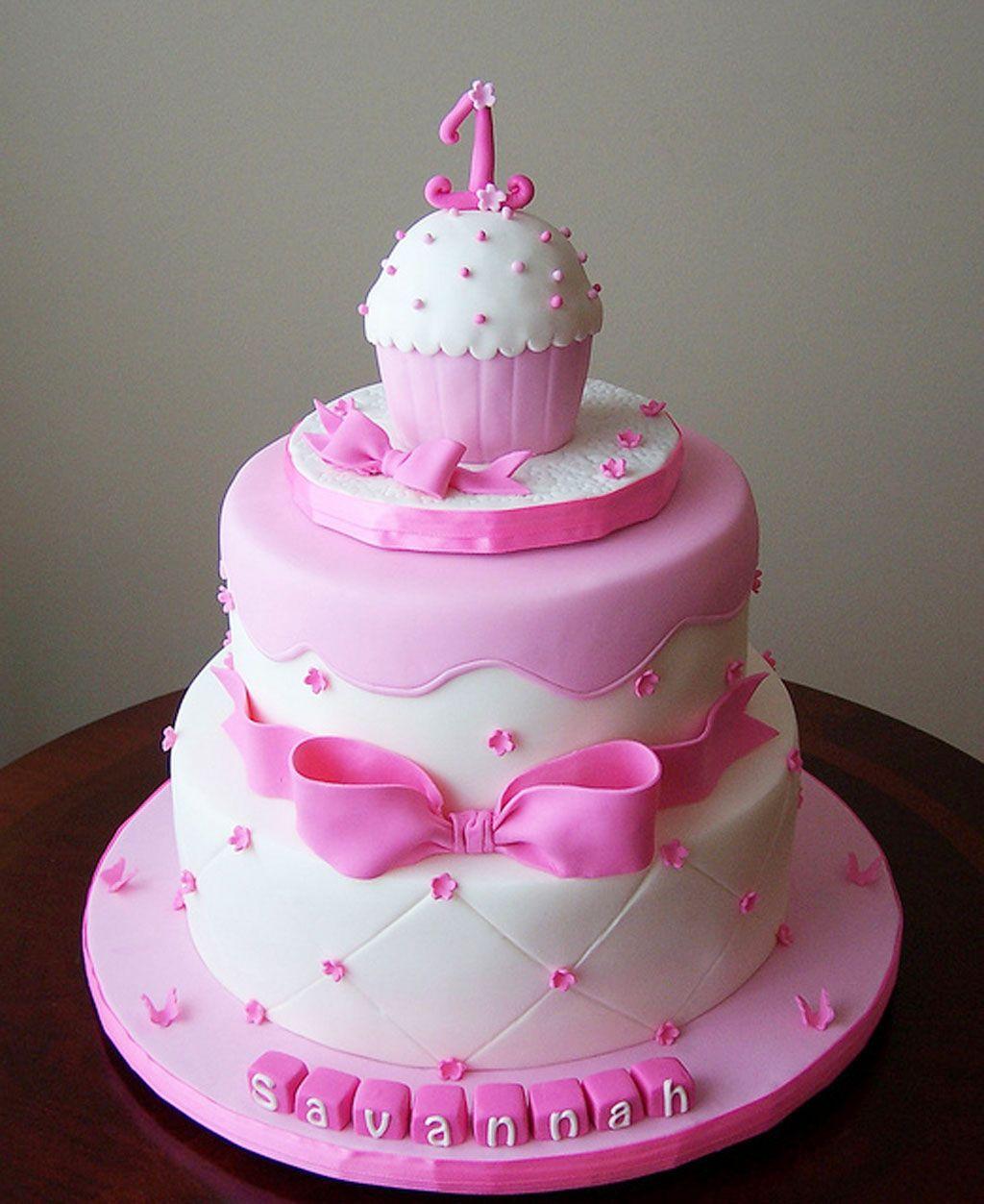 Birthday Cake Gorgeous Cakes Pinterest Birthday Cakes - 1st girl birthday cake