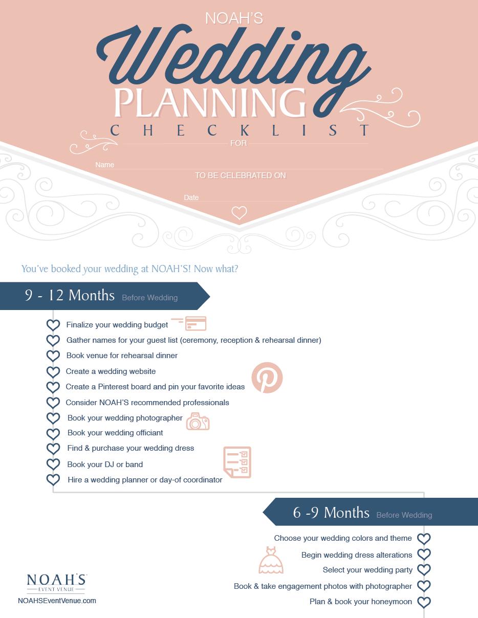 NOAHuS Wedding Planning Checklist  Wedding and Weddings