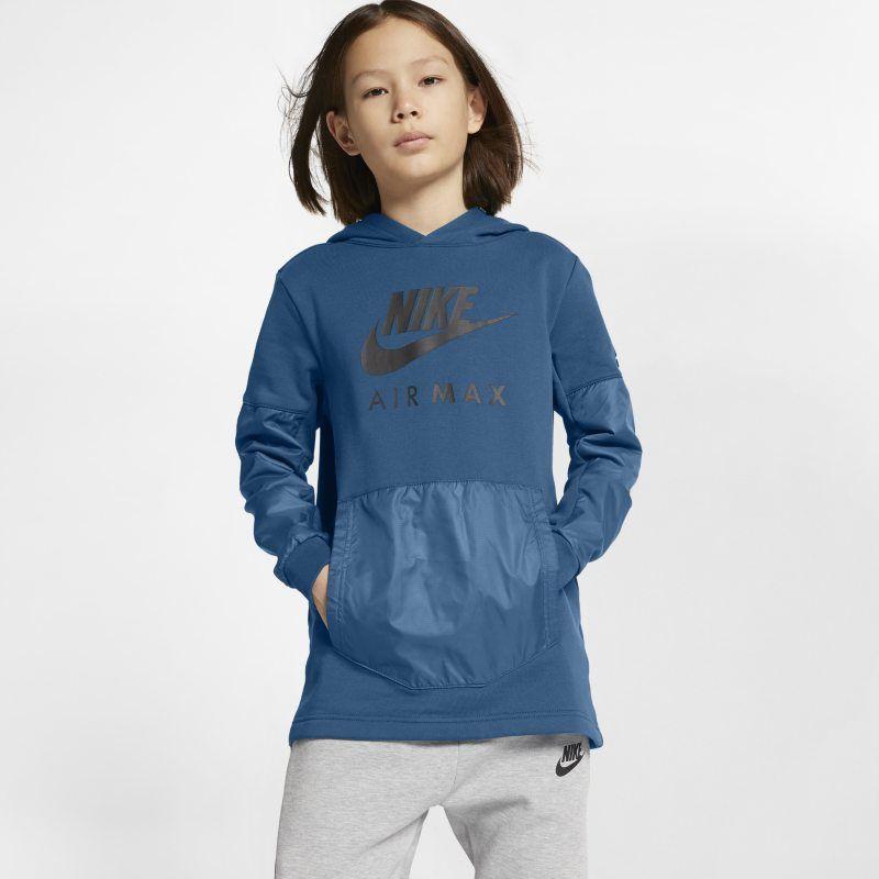 Nike Air Max Older Kids' (Boys') Pullover Hoodie Blue