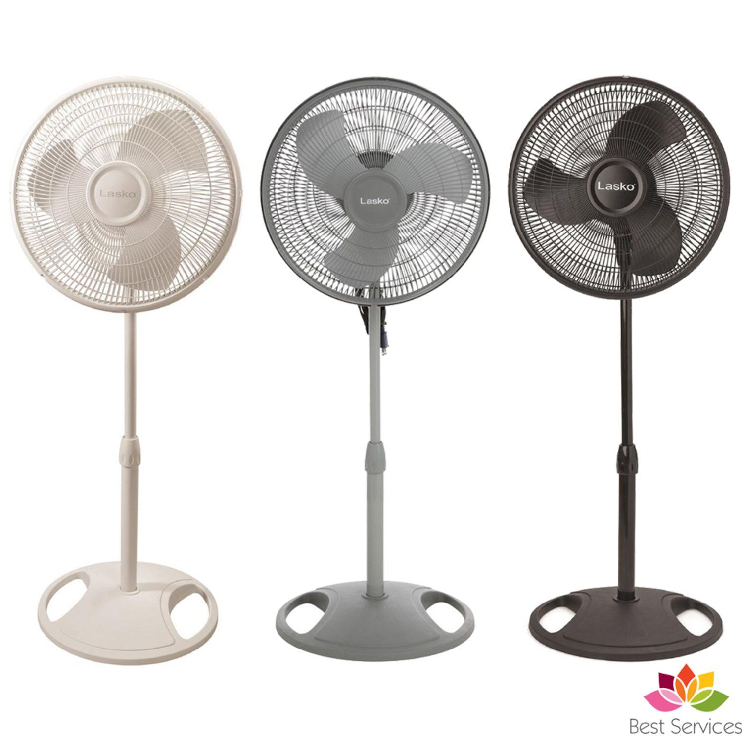 The Lasko16 In Stand Fan With 90 Degree Oscillation Sweep Produces High Air Output Which Is Perfect For Any Room Pedestal Fan Floor Standing Fan Standing Fans