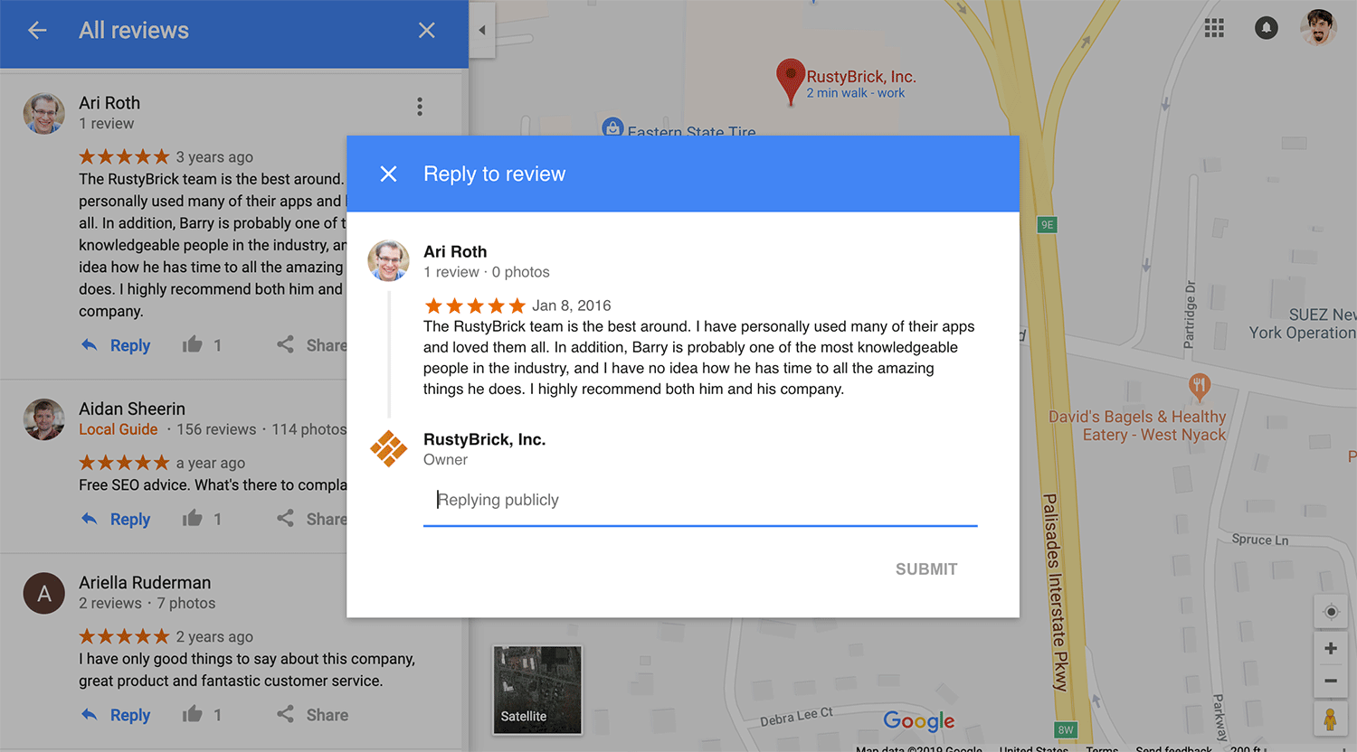 Business owners can now reply to reviews on Google Maps