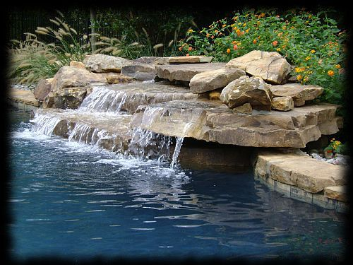 Pin by terri parrow botsford on my kind of swimming pools - Swimming pool water fountain kits ...
