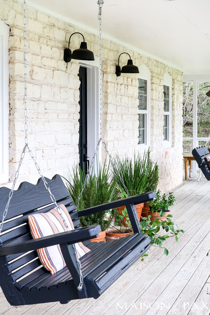 Modern Farmhouse Style Home Tour Maison De Pax Summer Porch Decor Front Porch Decorating Porch Design