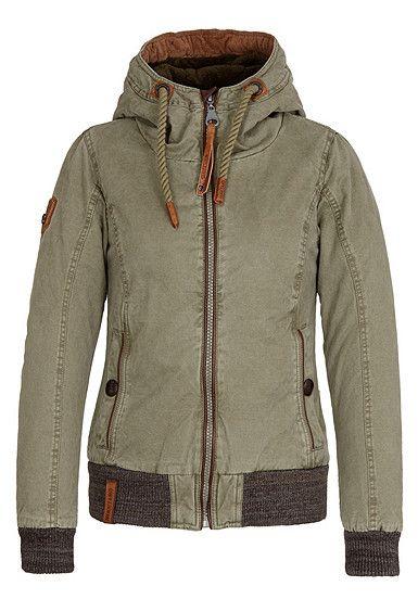 Naketano Rülpsen Schmatzen Furzen 2 W winter jacket black grey