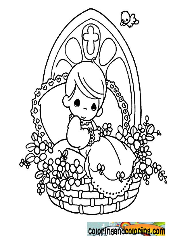 Precious Moments Coloring Pages Religious. precious moments ...