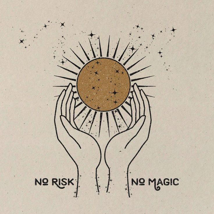 No Risk. No Magic.  || Art Print || Vintage Inspired Art || Inspirational Art || Boho Art Print ||