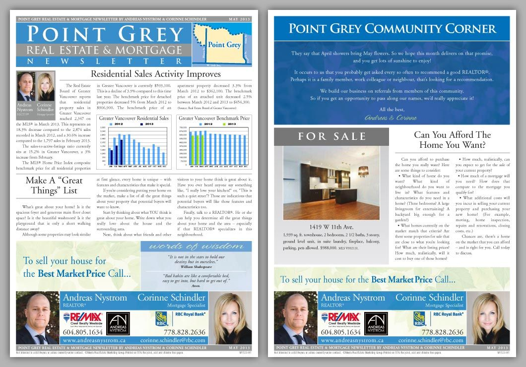 Easily Customize Your Direct Mail Real Estate Newsletter  Bean