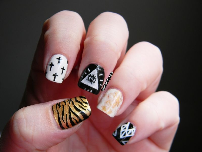 Hipster nail art never heard of it huh pinterest eliminar hipster nail art prinsesfo Images