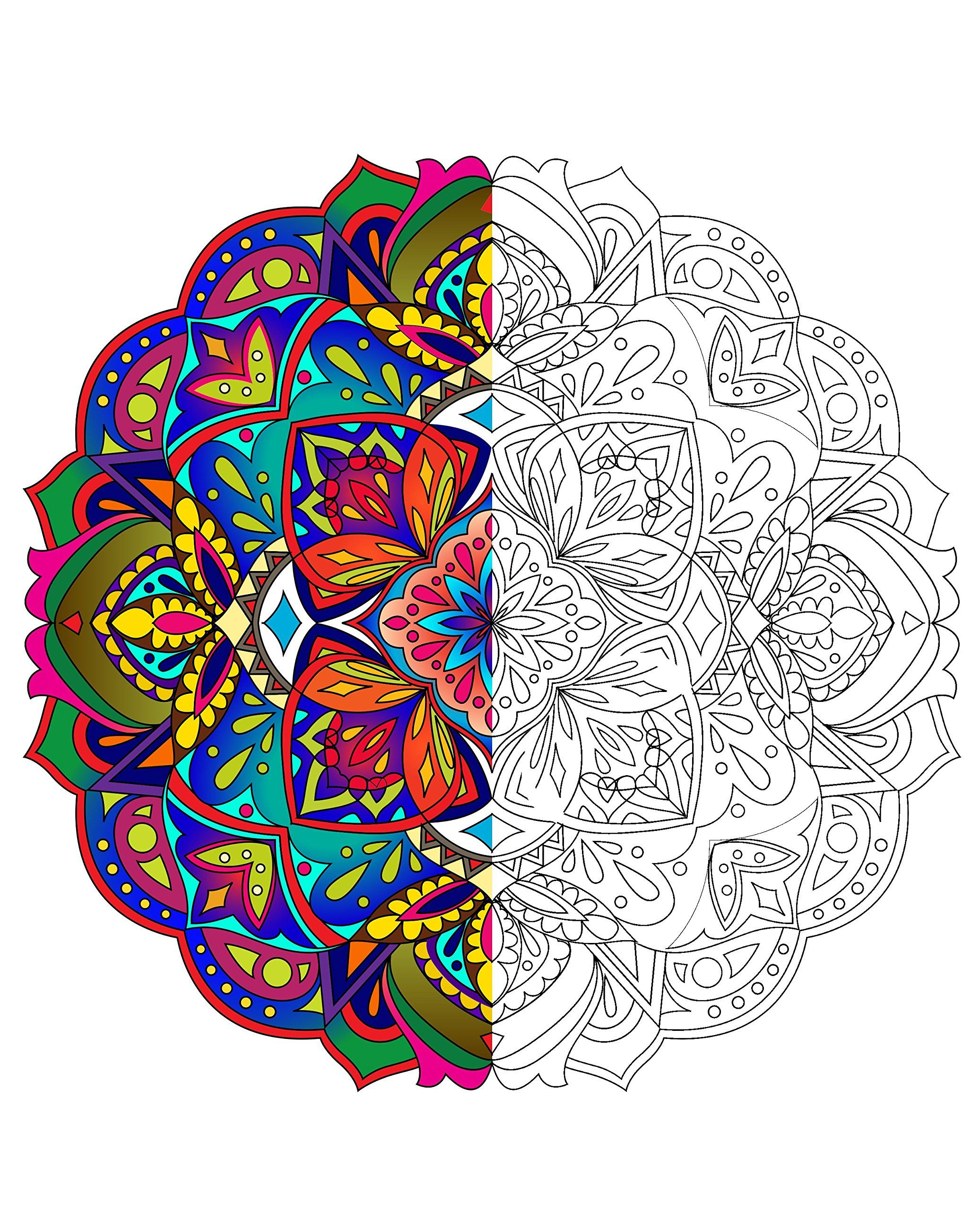 Mandala Coloring Book For Adults With Thick Artist Quality Paper Hardback Covers And Spiral Binding By Mandala Coloring Books Mandala Coloring Coloring Books