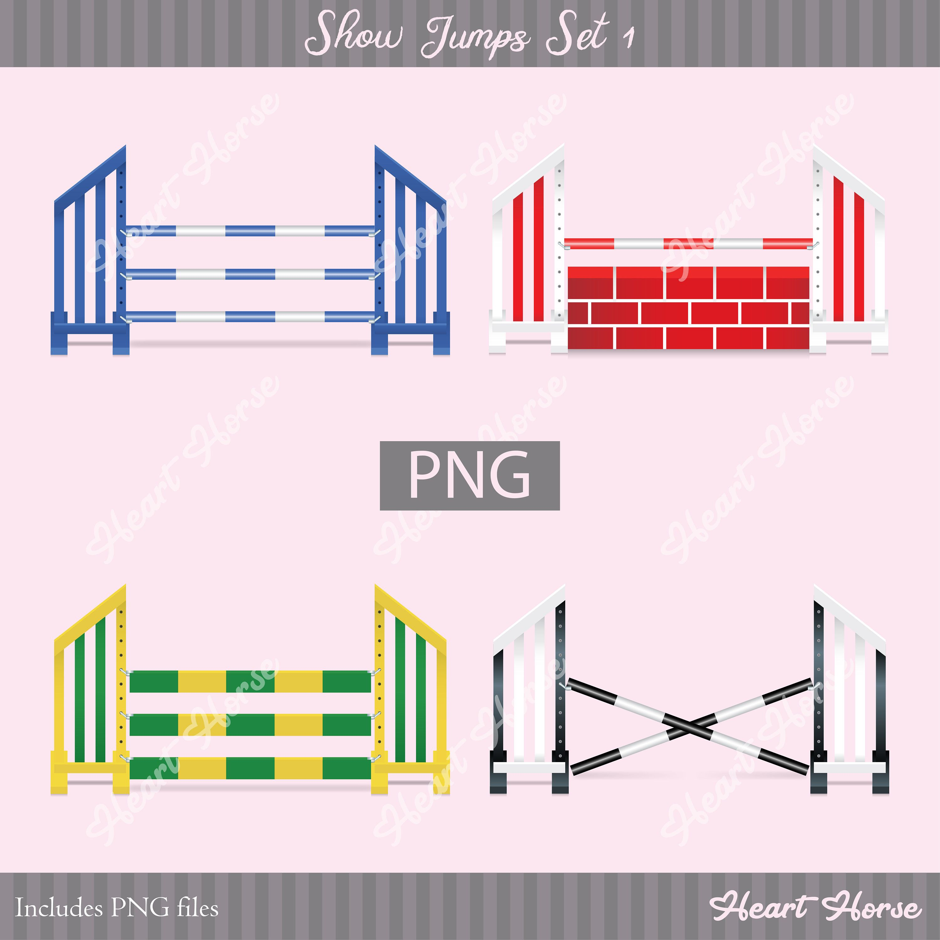 Excited To Share The Latest Addition To My Etsy Shop Show Jump Set 1 Png Realistic Illustration Https Etsy Me 2 Horse Exercises Show Jumping Horse Heart