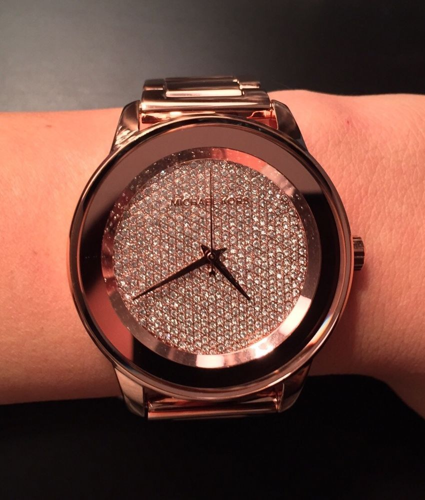 cheap michael kors outlet sale bxy0  michael kors kinley pave rose gold watch