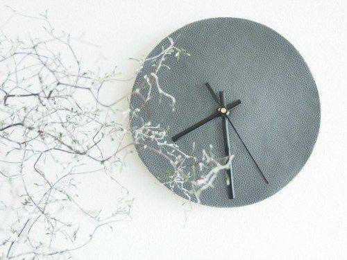 Diy Leather Wall Clock Leather Wall Clock Leather