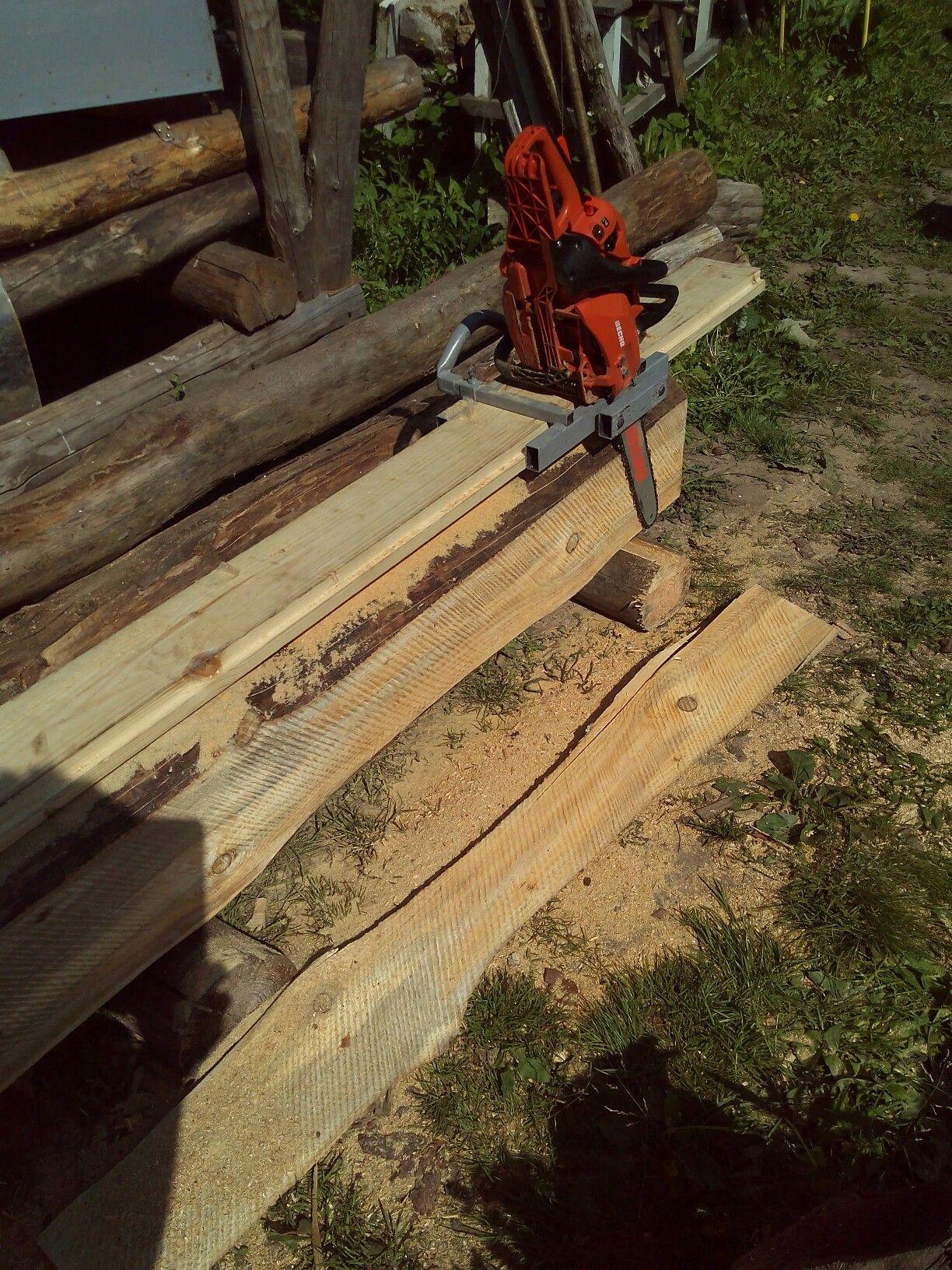 forest sawmill wood lumber amker cut off chain saw attachment board