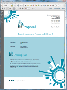 Electronic Records Management Sample Proposal  The Electronic