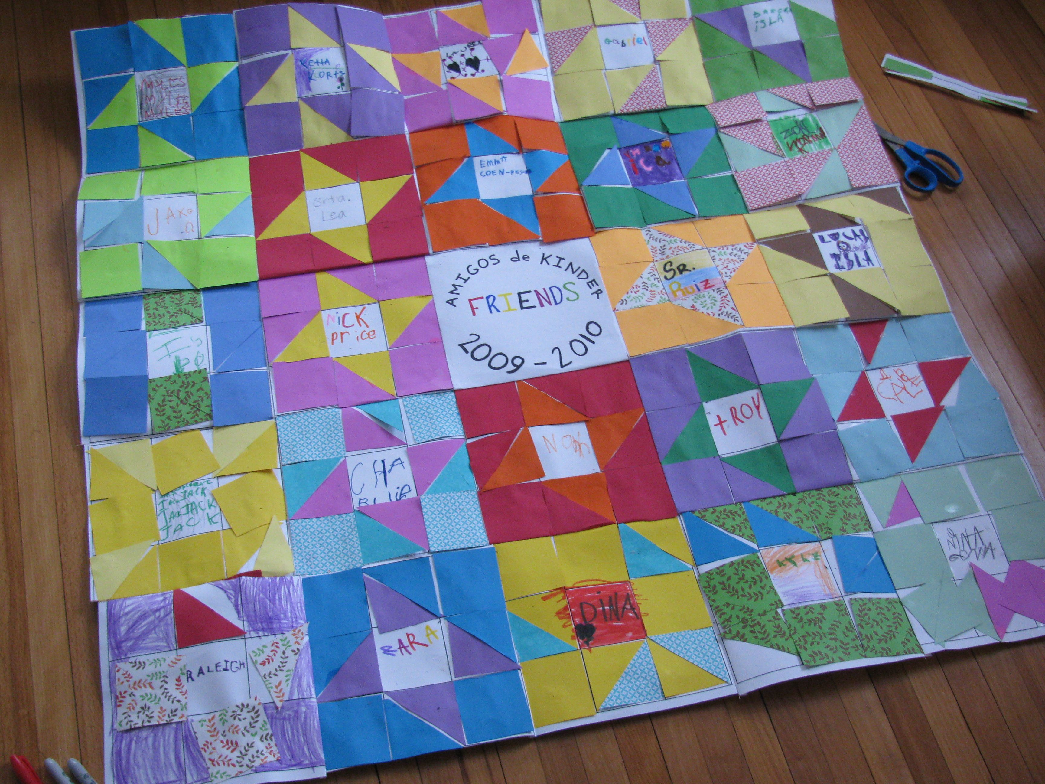 Classroom Paper Quilt Ideas ~ Neat activity for each child to make a portion of the