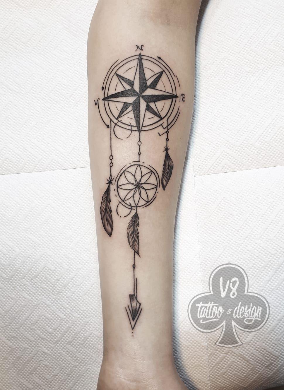 Dreamcatcher Tattoo Dreamcatcher Tattoo Tattoos Geometric Tattoo