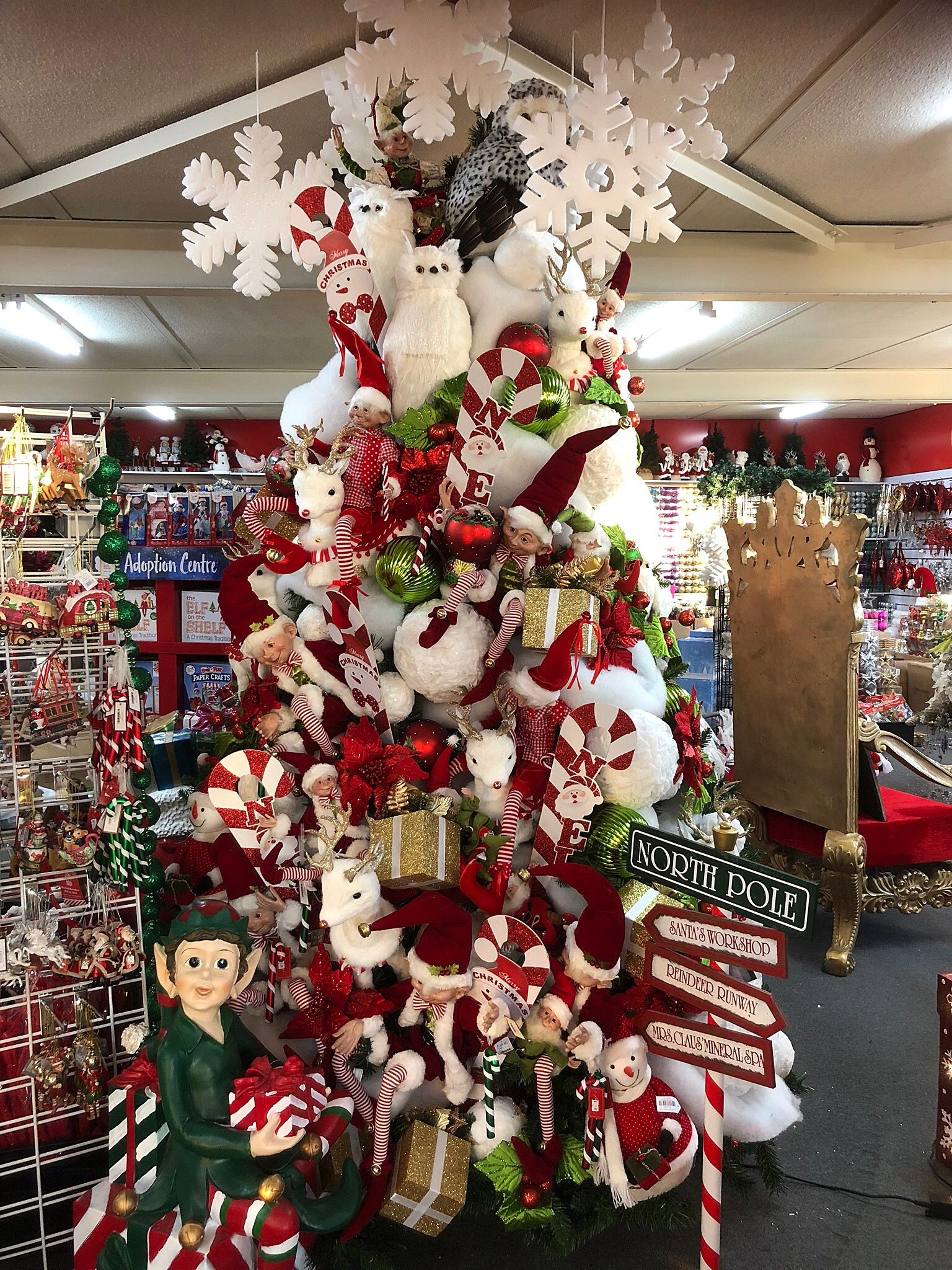Christmas Elves themed tree at Ferntree Gully