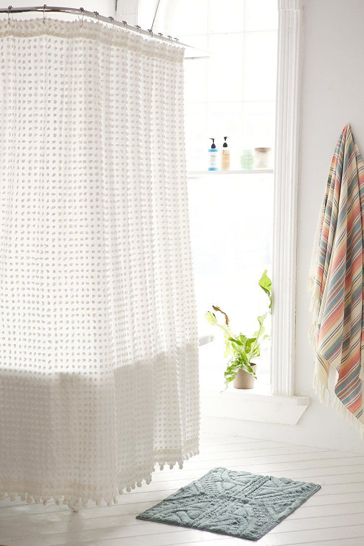 plum bow pom pom dot shower curtain apartment wish list
