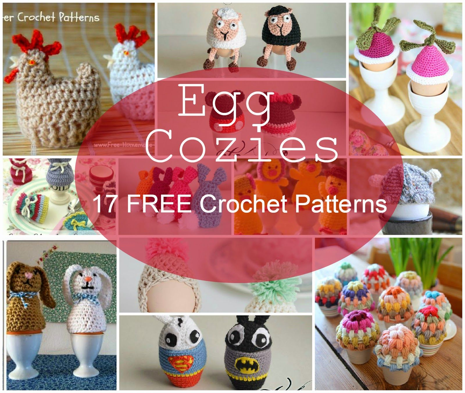 Happiness Crafty: 17 FREE Egg Cozies Crochet Patterns | Pasen ...