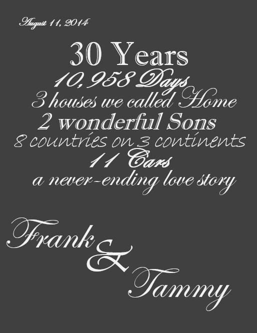 My Friend Frank Made This For His Wife On Their 30th Anniversary What A Beautiful G Birthday Cards For Brother 30th Anniversary Gifts Birthday Wishes For Mom