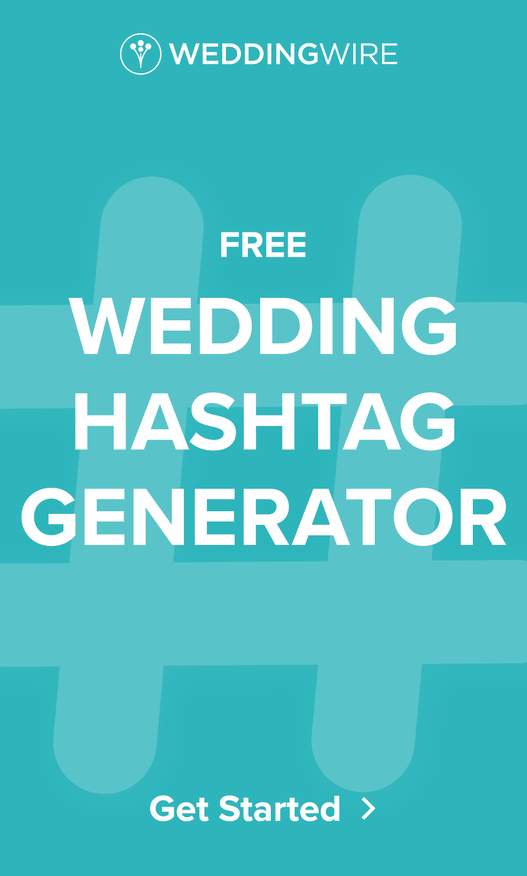 Get creative wedding hashtag ideas for your big day with