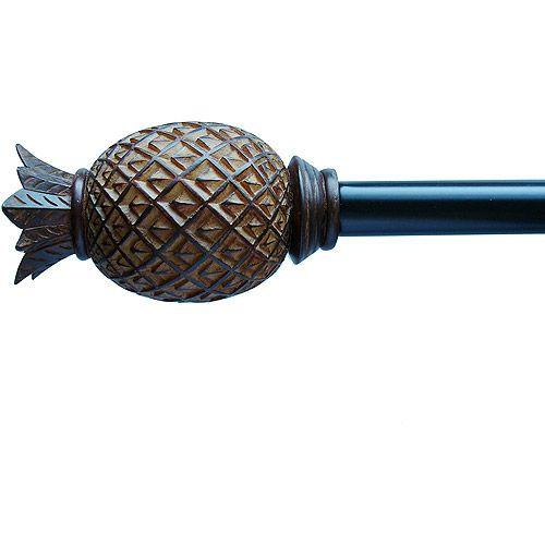 Coconut Pineapple Drapery Rod 5 8 Diameter Decor Walmart Com