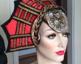 READY TO SHIP Art Deco Headdress headpiece by PoshFairytaleCouture
