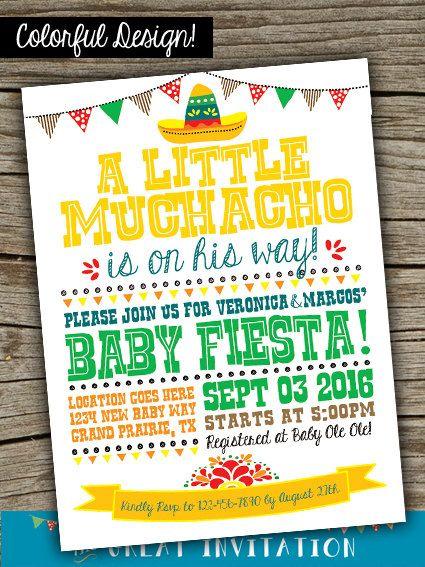 Fiesta Baby Shower Printable Invitation By TheGreatInvitation