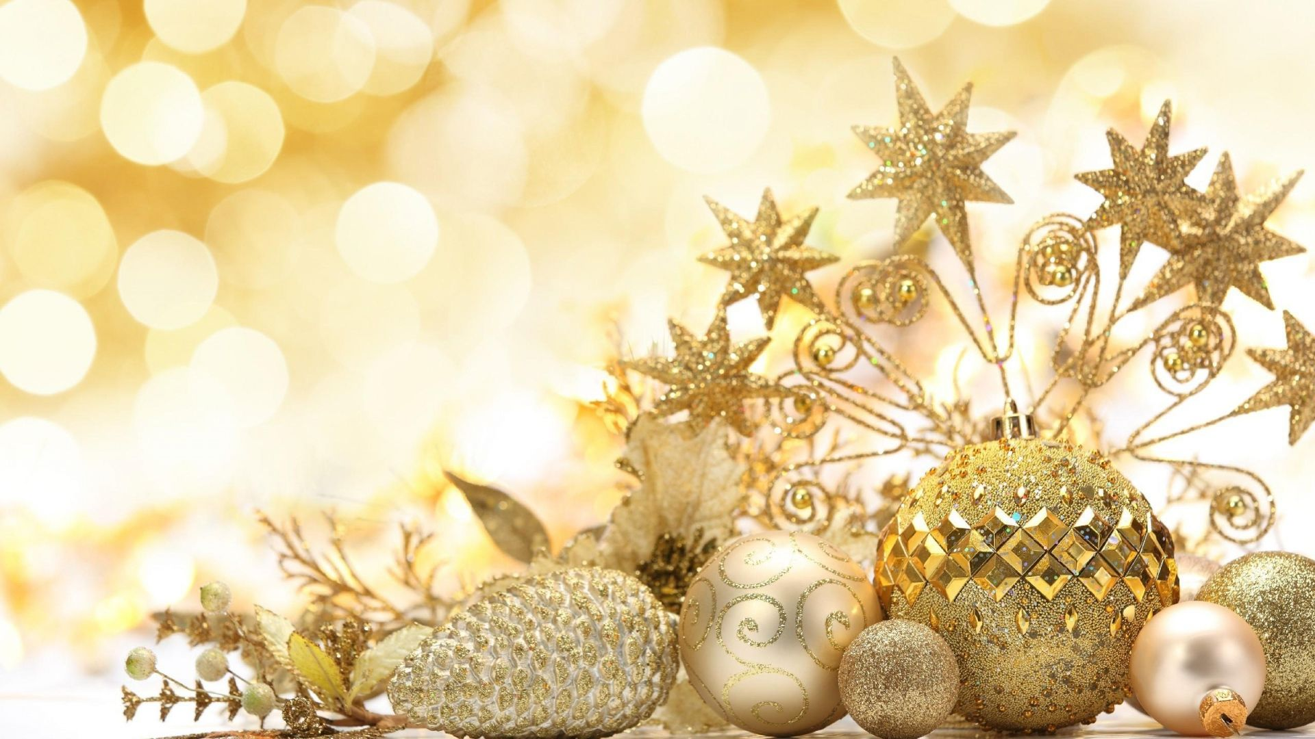 awesome christmas decorations gold new year decoration mood