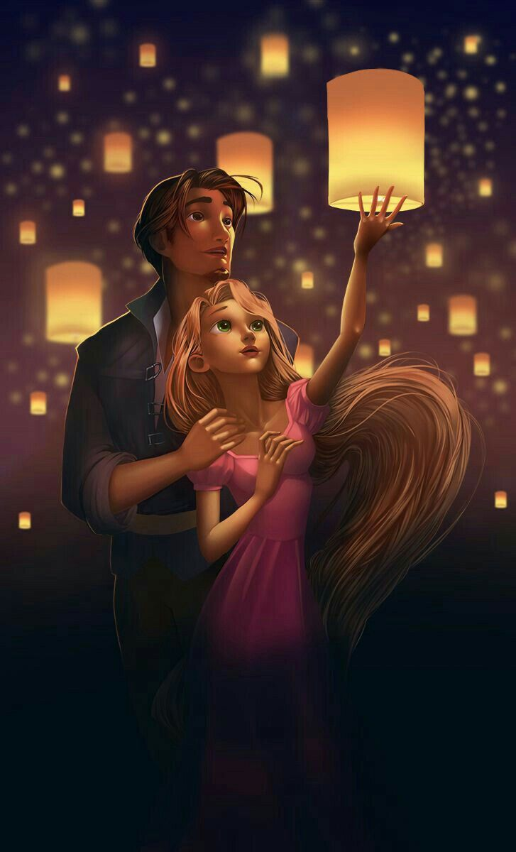 Seeing the lights with him..Tangled love