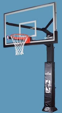 Spalding Arena View Basketball System 88724agp 72 In Glass Backboard Basketball Systems Spalding Basketball Rim