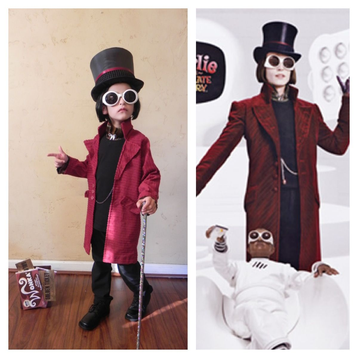 Homemade CHARLIE AND THE CHOCOLATE FACTORY Halloween costume ...