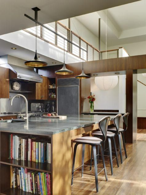Visit: LA Kitchen Roundup from Remodelista Architect/Designer Directory This Venice kitchen by Jamie Bush & Co (interior design) and Marmol Radziner (architecture) is the central focus of the house, which features a double-story atrium space.This Venice kitchen by Jamie Bush & Co (interior design) and Marmol Radziner (arch...