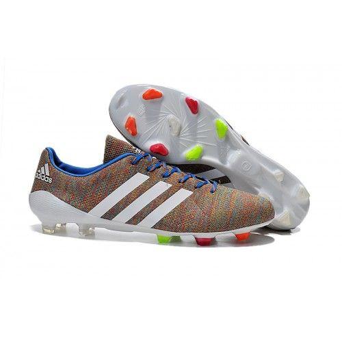 Adidas Samba Primeknit FG Fußballschuhe Braun Weiß