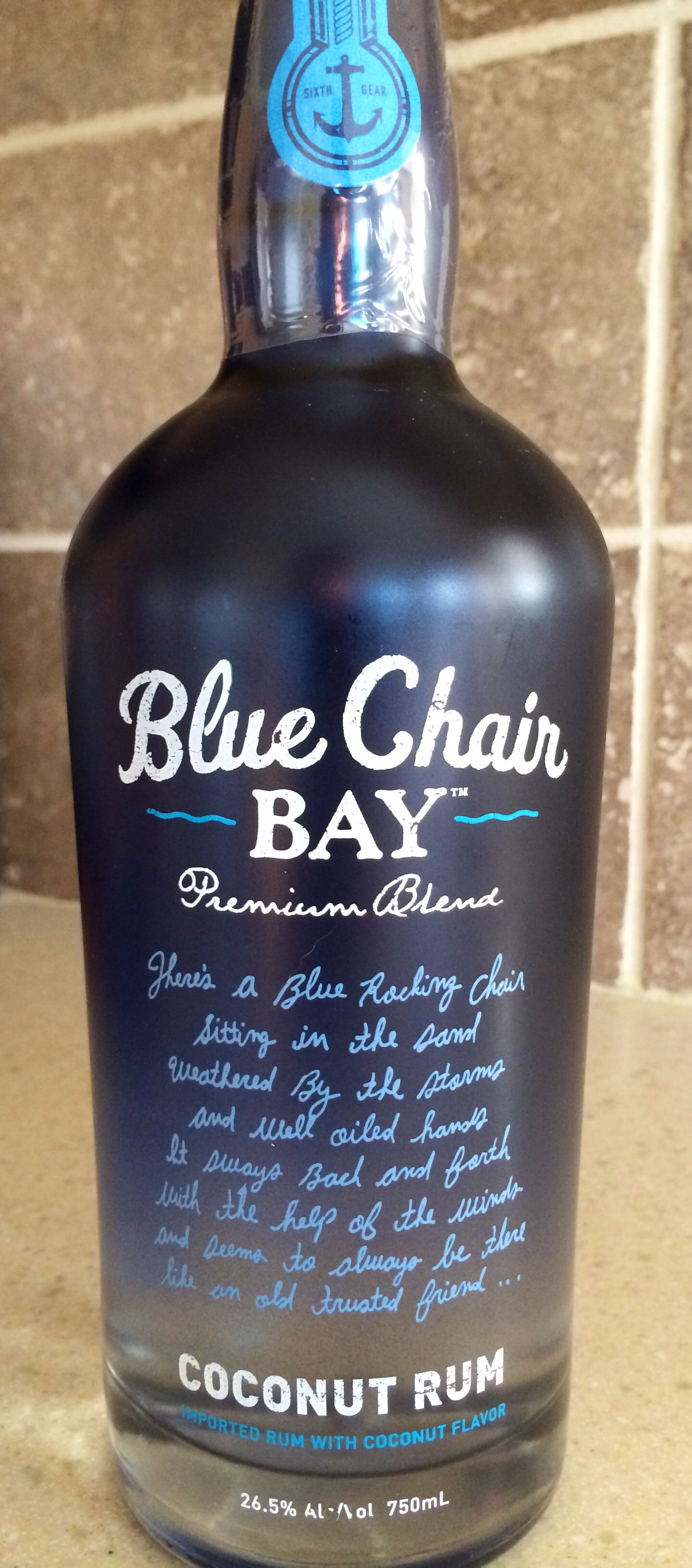 Blue chair bay coconut rum front adornos