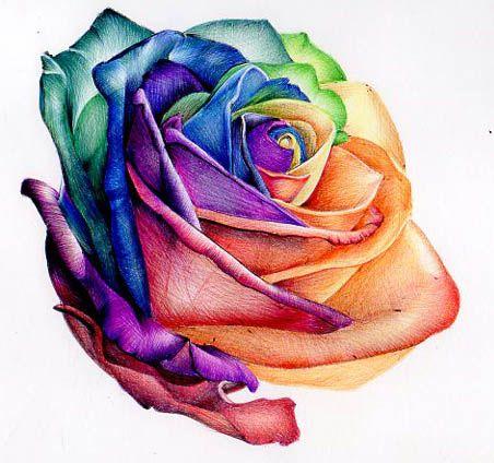 Roselyn Uses The Magic Words Big Tattoo Planet Rose Tattoo Rainbow Tattoos