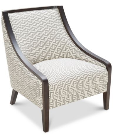 Landor Printed Accent Chair Furniture Macy S Comfy
