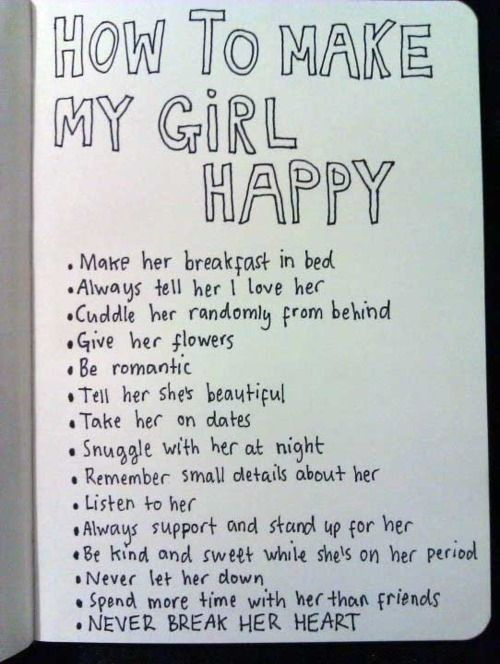 And She Will Always Be Happy Treat Her The Way She Should Be