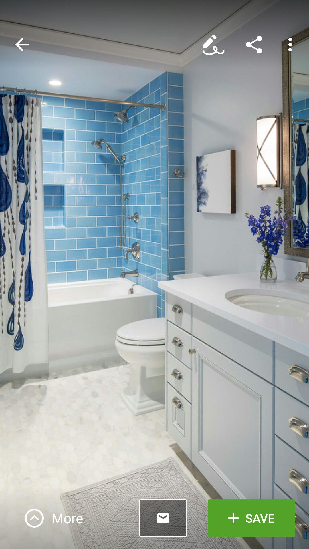 GUEST BATHROOM LOVING THE TILE IN SHOWER | Bathroom | Pinterest | Bath