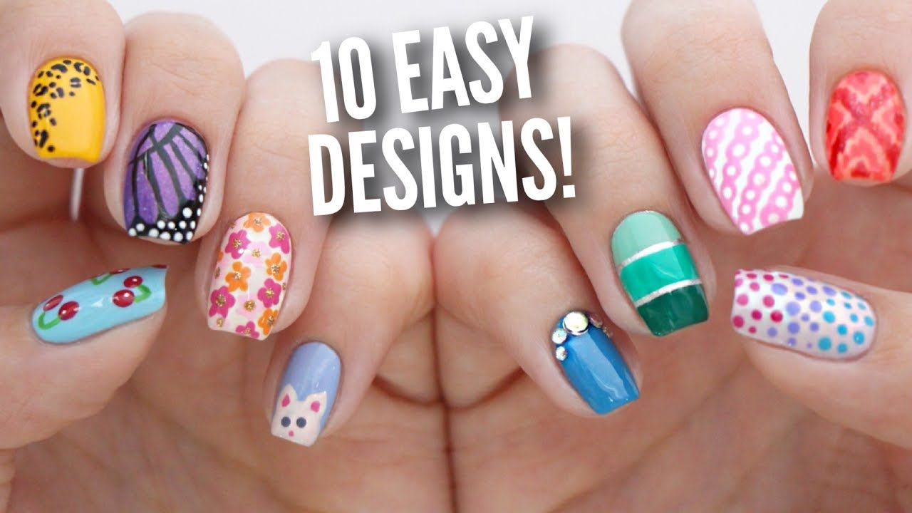 30 Cool Nail Art Ideas For 2018 Easy Nail Designs For Beginners Line Nail Art Lines On Nails Simple Nails