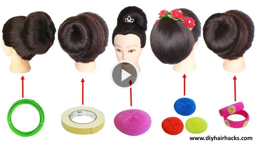 5 Easy Juda Hairstyle With Trick Artsycraftsydad Easy Hairstyles Hair Styles Bun Hairstyles