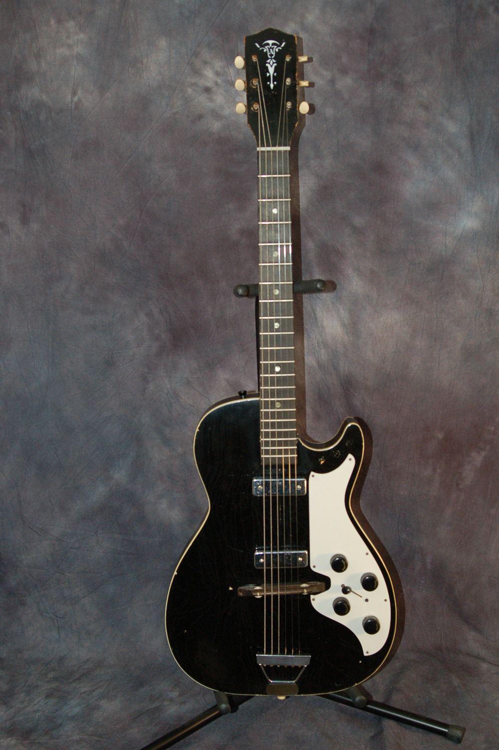 1963 Harmony Made Stratotone With Aldens Brand Logo Vintage Guitars Guitar Logo Guitar