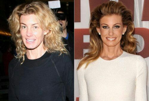 Image result for Beautiful Celebs Who Look VERY Different In Real Life Faith Hill