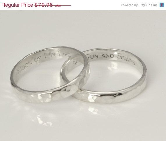 Pin By Gemma On Geek Out Engraved Rings Wedding Band Engraving Sterling Silver Rings Set
