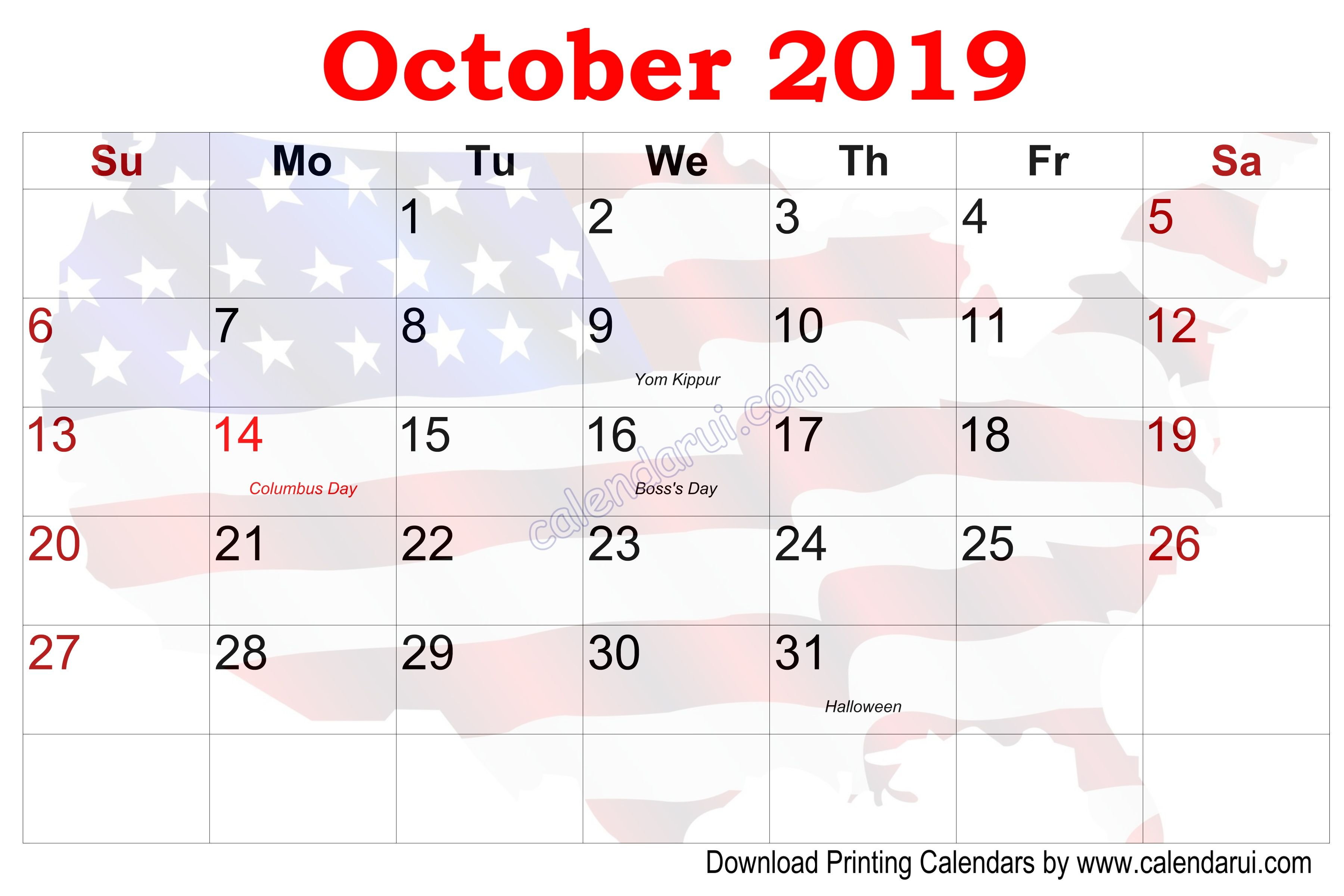 10 September U S Calendar Printable With Holidays