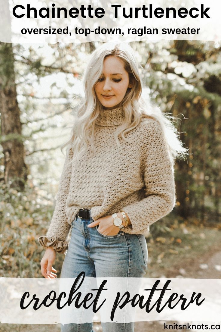 Crochet Pattern - Chainette Turtleneck