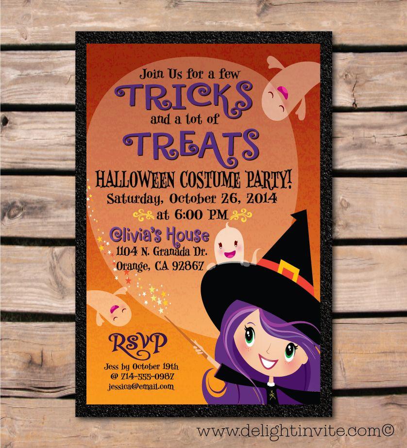 Halloween Costume Party Invitation [DI-10407] : Custom Invitations ...
